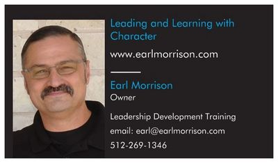 Leadership Development Training contact information Earl Morrison