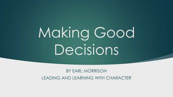 Making Good Decisions Webinar Leadership Development Webinar Personal Development Webinar