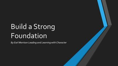 Building a strong foundation webinar Leadership Development Webinar Personal Development Webinar