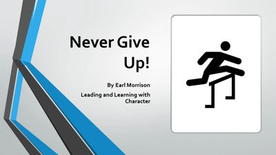Never Give Up Webinar Leadership Development Webinar Personal Development Webinar