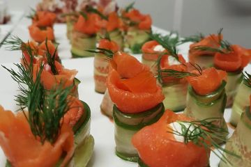 smoked salmon cucumber dill appetizers