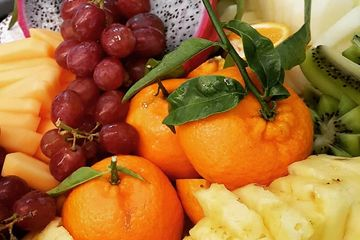 fresh cut seasonal fruit platter