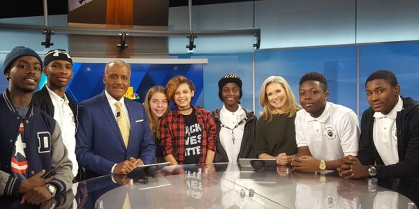 UE's students/interns on tour at WBAL-TV studio. We understand that new career paths are important.
