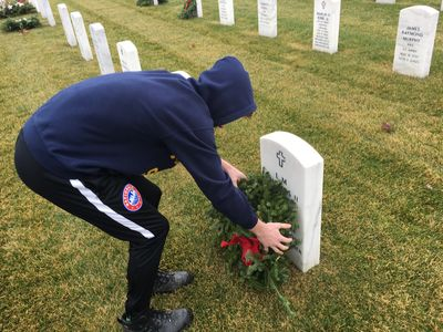 Grant Deaton, 2018 Annual Wreath Laying at VA National Cemetry, Holly, MI
