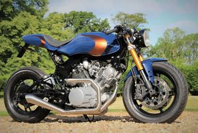 Yamaha XV920 Virago cafe racer build by ASE Custom motorcycles