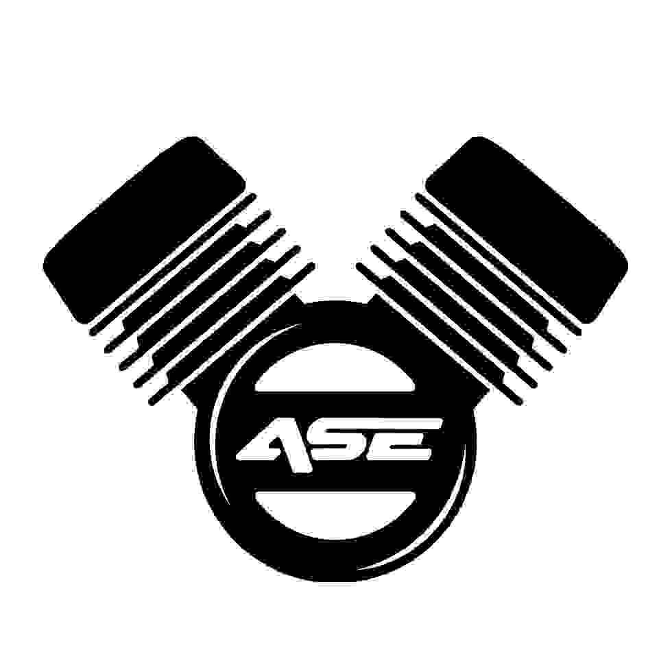 ASE Custom motorcycles logo - premium custom motorcycle builders based in the West Midlands, UK