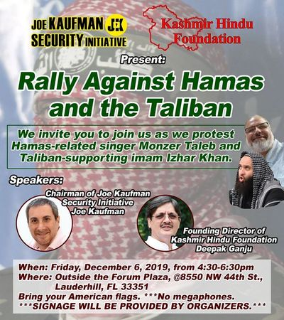 Rally Against Hamas and the Taliban
