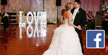 A Red Letter Day offers large marquee & LED letters available to rent for your wedding reception.