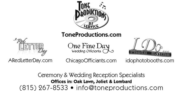 Book multiple wedding services with Tone Productions and save!