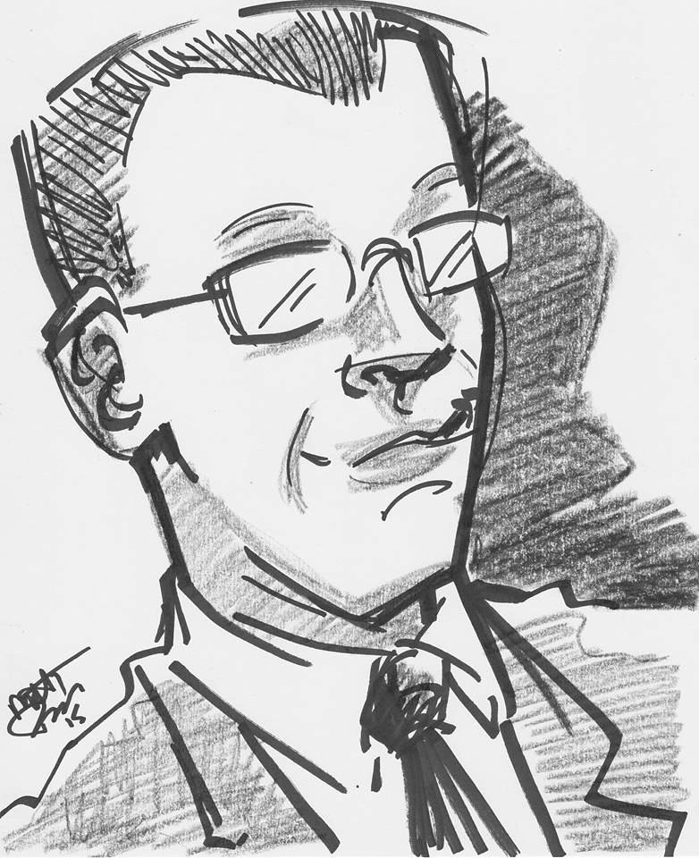 Caricature of Peter from the IEEE AGM.