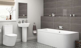 Bathroom, toilet, basin, peds, basin taps, bath filler, silicone