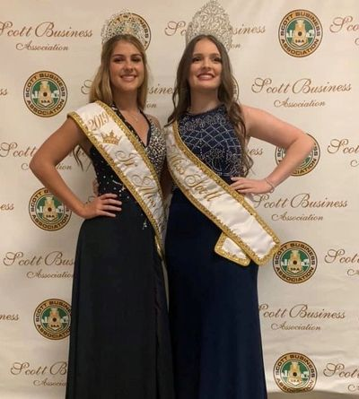 2019-2020 Junior Miss Scott Faith Chiasson 2019-2020 Miss Scott Samantha Lasater