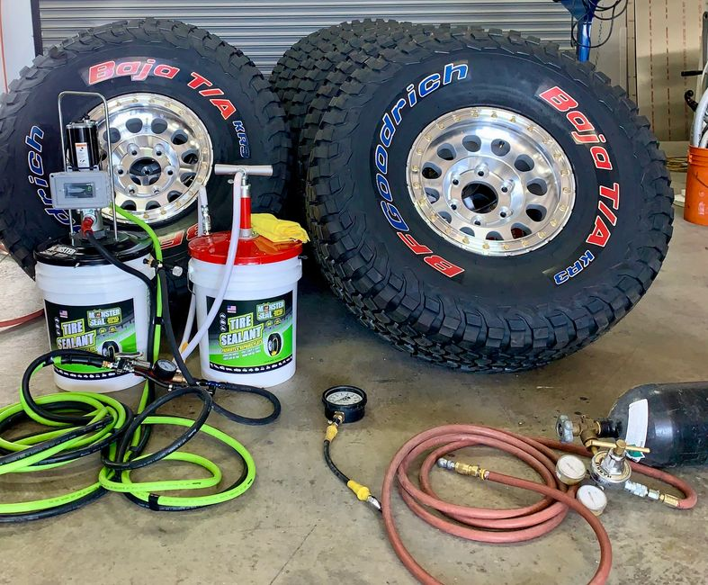 Monster Seal tire sealant hand pump & pneumatic injection pump with BFG Baja TA off road race tires