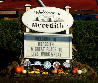 Meredith Sign Board