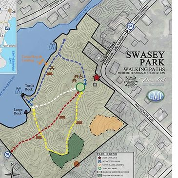 Swasey Park Trail map, Meredith New Hampshire