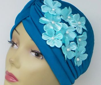 Turban  with flower Applique