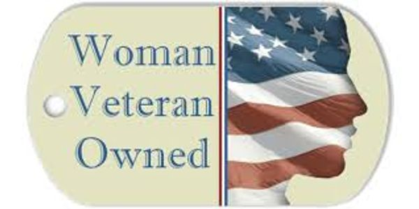 Proud Woman Veteran Owned Small Business.