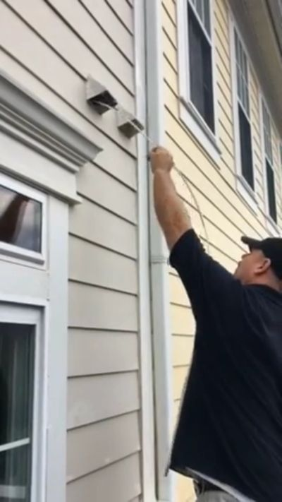 Click to watch video of our dryer vent cleaning process