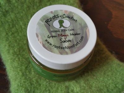 Green Magic Healer Salve works quickly and effectively at soothing dry, cracked skin.