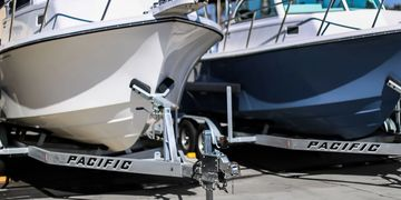 Pacific Trailers sales and service.  Boat trailer repair and replacement parts.