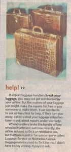 Tampa Tribune article about luggage that featured Wilson King's work.