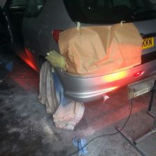 Peugeot 206 rear bumper repair.