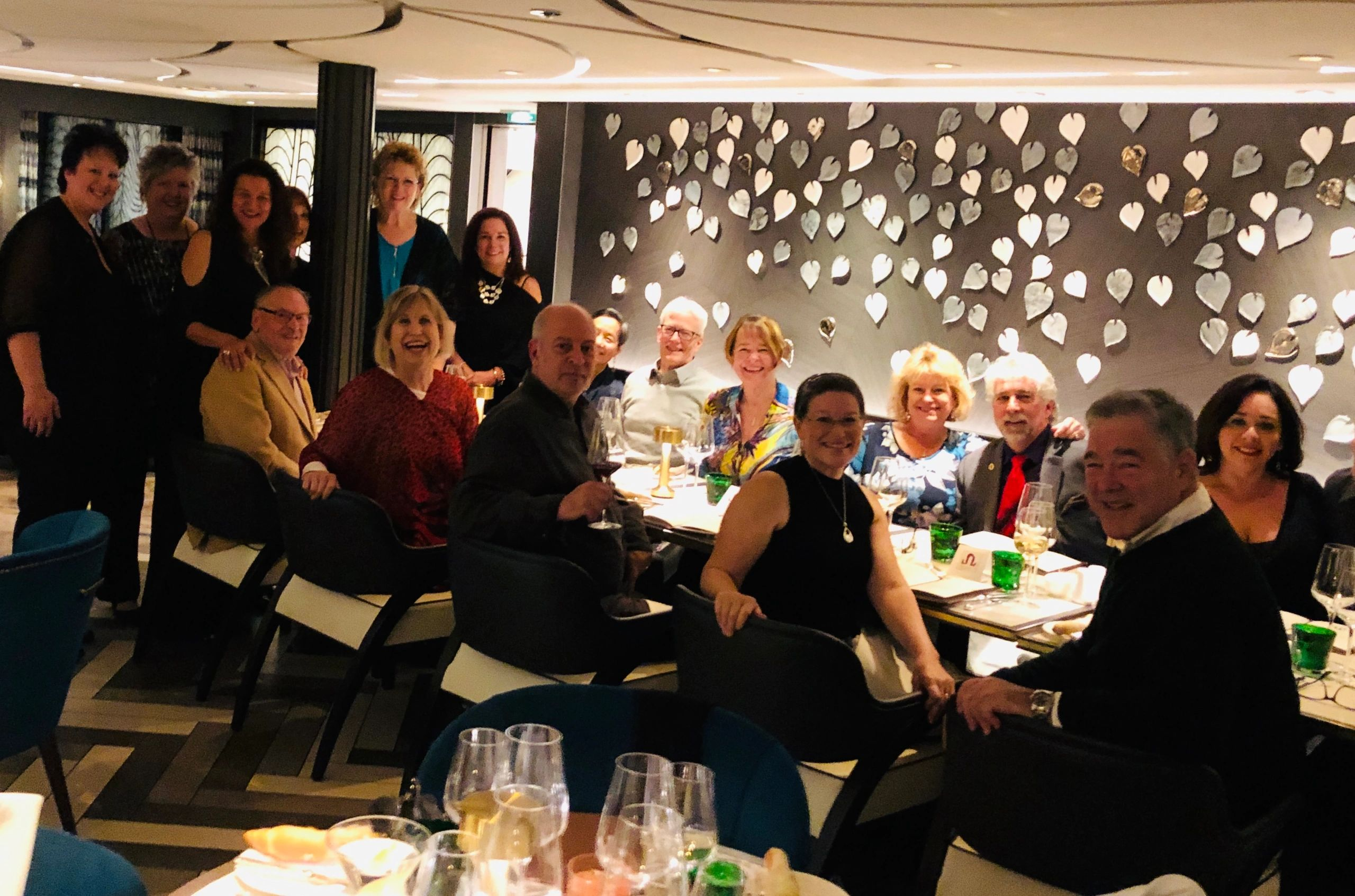 Travel & Wine group celebrating a local California fundraising event.