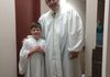 Our oldest grandson Dalton just before I had the privilege to baptize him after he accepted Jesus as His savior.  Great honor and joy!