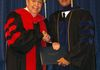 Dr. Harold hunter and me on Graduation day August 2013, Trinity Theological Seminary Newburg IN