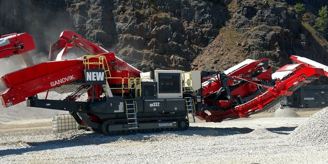 2019 Sandvik QH331 Tracked Cone with a Double Deck 5' x 13' Finishing Screen & CAT Engine.