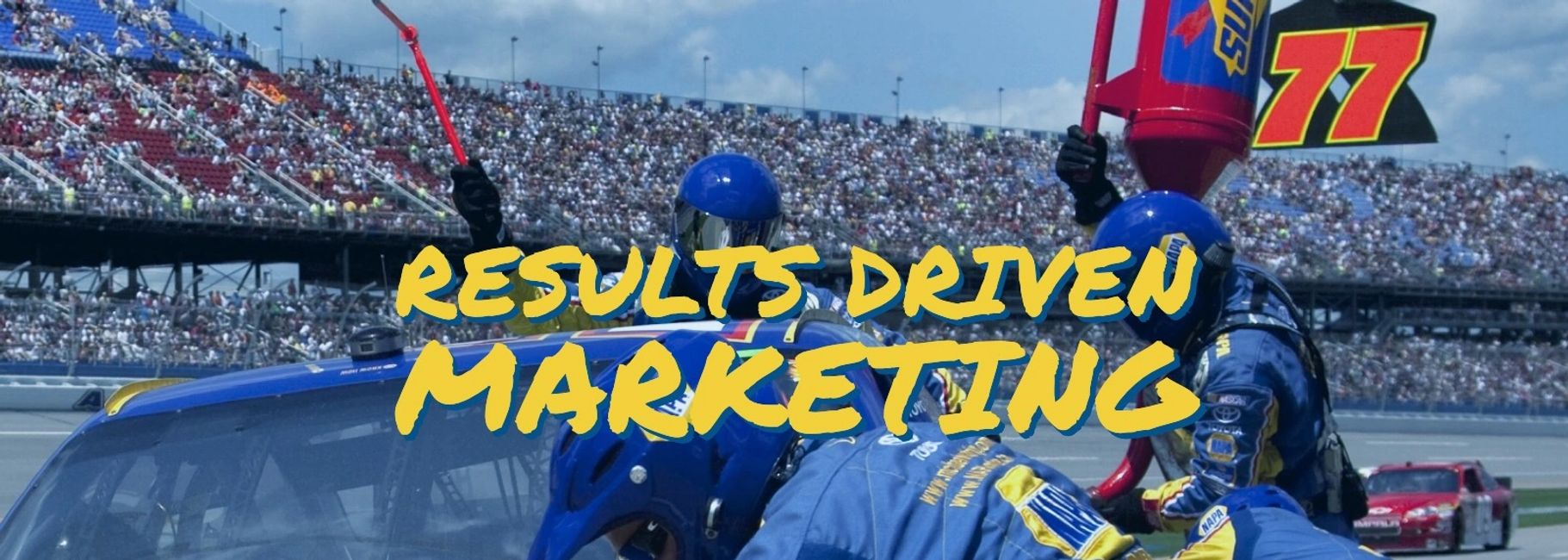 "graphic for spectrum marketing that shows the tag line ""results driven marketing""."