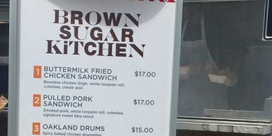 Snap of Brown Sugar Kitchen at Oakland A's Opening Day.