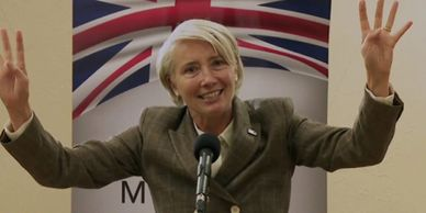 Emma Thompson on Years and Years playing a crazy politician in UK 15 years from now.