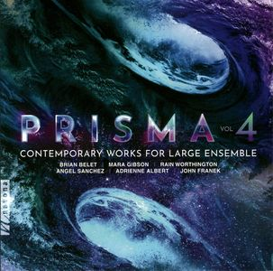CD cover for Prisma, Volume 4, containing Stellar Nebulae, for string orchestra, by Brian Belet.