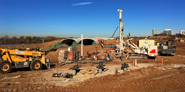 Installing Micropiles at A Gathering Place: Tulsa's Riverfront Park.