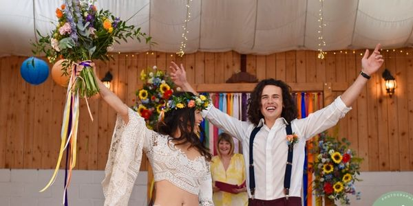 colourful festival styled wedding ceremony  shot by Jules Fortune Photography