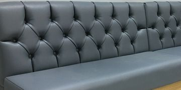 Deep Buttoned Banquette Seating
