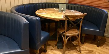 Bustled Back round free standing fixed seating