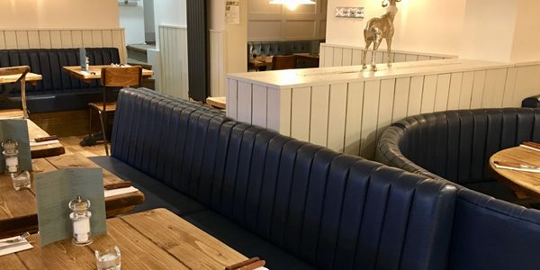 Banquette seating busted back