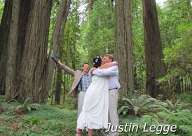 Go-anywhere destination wedding officiant in the redwoods of Northern California.