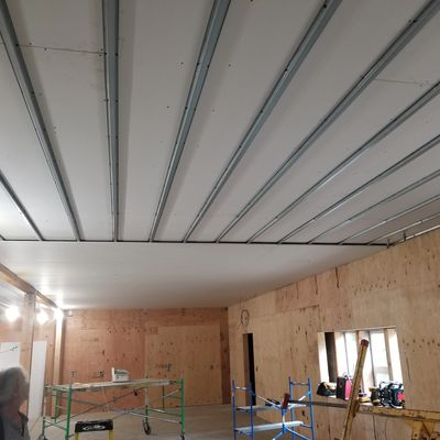 installing a fire rated ceiling for Lincoln County School District