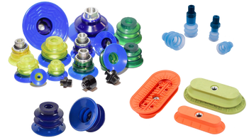 Vacuum Suction cups, Bellows Suction Cups, Oval Suction Cups, Piab, Coval, Vacuforce, Vuototecnica