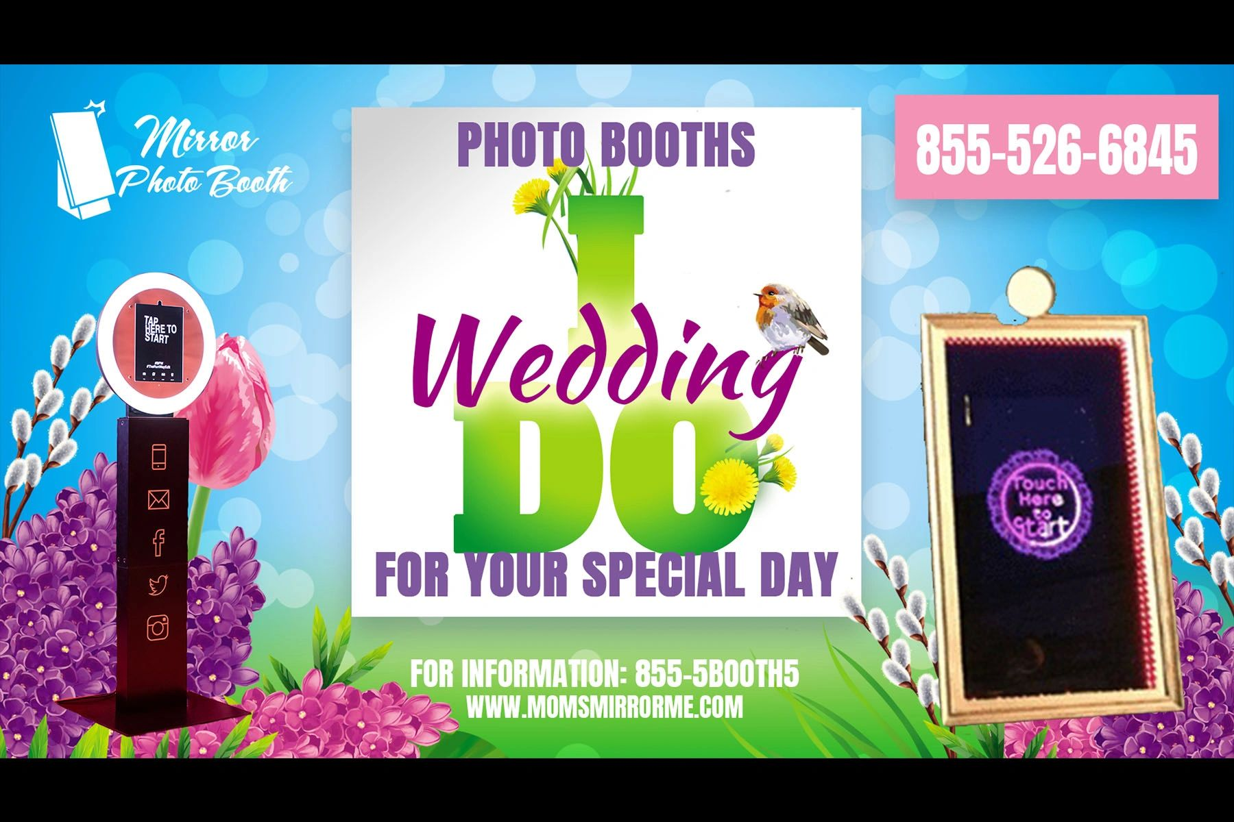 photo booths for every occasion. Mobi Booth and Mirror Photo Booth