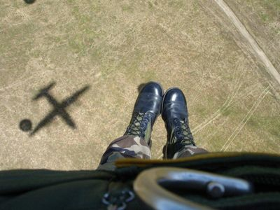 Knees in the breeze. Ft. Bragg, NC 2002.