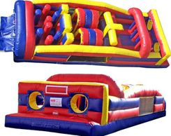 7 element obstacle course bounce house inflatable  Noblesville Indianapolis Westfield Fishers
