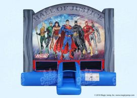 Justice League inflatable bounce house   Noblesville Indianapolis Westfield Fishers Cicero Carmel