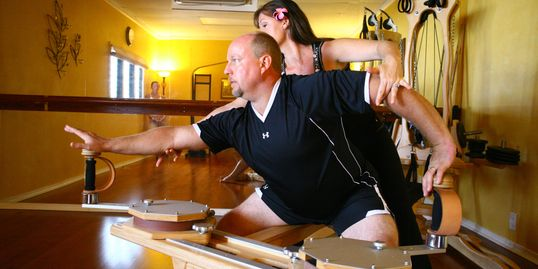 Steve and Laura offering The Gyrotonic Method in Claremont CA