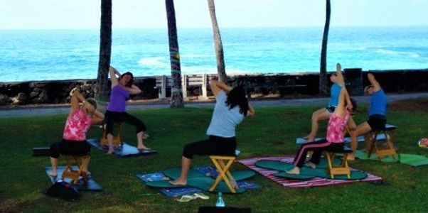 Gyrokinesis on the beach in Hawaii