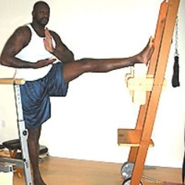 Shaq does Gyrotonic exercise