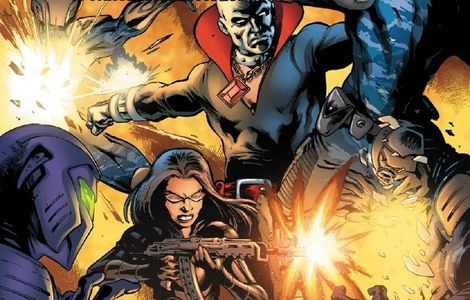 baroness and destro vs. blue ninjas and gi Joe